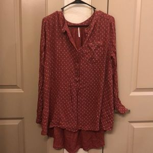 NWOT free people rust colored tunic